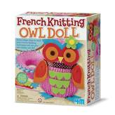 Kreativni set 4M, French Knitting Owl Doll, set za pletenje lutke sove