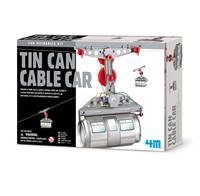 Kreativni set 4M, Fun Mechanics Kit, Tin Can Cable Car, žičara od limenke