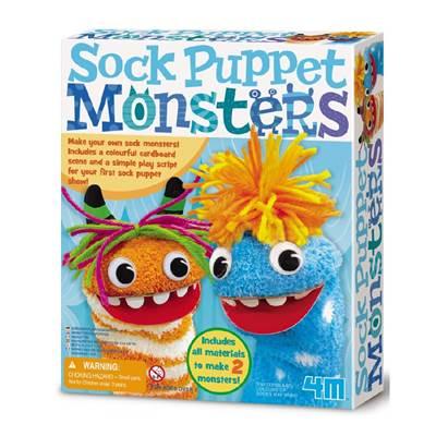 Kreativni set 4M, Sock Puppet Monsters, čudovišta od čarapa