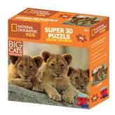 Slagalica NATIONAL GEOGRAPHIC, Super 3D Kids Puzzle, Afrički lavovi, 63 komada