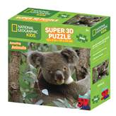 Slagalica NATIONAL GEOGRAPHIC, Super 3D Kids Puzzle, Koala, 100 komada