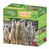 Slagalica NATIONAL GEOGRAPHIC, Super 3D Kids Puzzle, Merkati, 150 komada