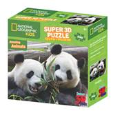 Slagalica NATIONAL GEOGRAPHIC, Super 3D Kids Puzzle, Panda, 100 komada