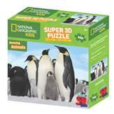Slagalica NATIONAL GEOGRAPHIC, Super 3D Kids Puzzle, Pingvini, 100 komada