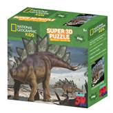 Slagalica NATIONAL GEOGRAPHIC, Super 3D Kids Puzzle, Stegosaur, 150 komada