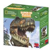 Slagalica NATIONAL GEOGRAPHIC, Super 3D Kids Puzzle, Tiranosaur, 150 komada