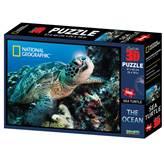 Slagalica NATIONAL GEOGRAPHIC, Super 3D Puzzle, Morska kornjača, 500 komada