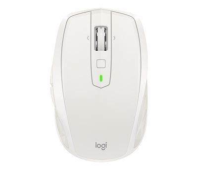 Miš LOGITECH MX Anywhere 2S, laserski, bežični, crni, BT, Unifying receiver USB, bijelo-sivi