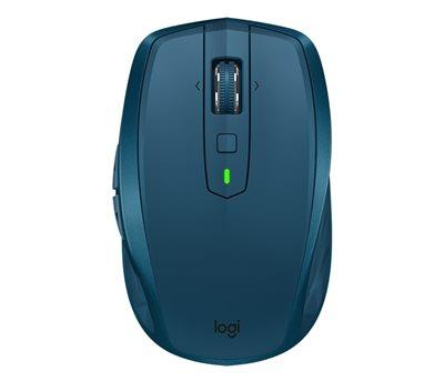 Miš LOGITECH MX Anywhere 2S, laserski, bežični, crni, BT, Unifying receiver USB, plavi
