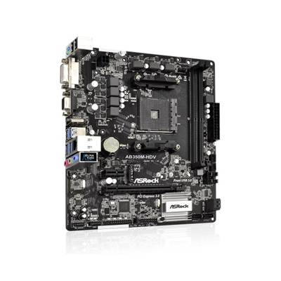 Matična ploča ASROCK AB350M-HDV, AMD B350, DDR4, zvuk, G-LAN, SATA, M.2, PCI-E 3.0, D-Sub, DVI, HDMI, USB 3.0, mATX, s. AM4