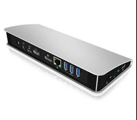 Docking station ICY BOX IB-DK2403-C, HDMI, LAN 4x USB 3.0, napajanje - USB napajanje, SD čitač kartica, 3.5mm jack, sivi