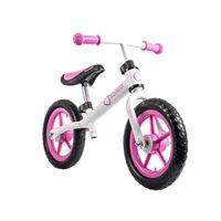 """Dječji bicikl LIONELO, Fin PLUS 12"""", bez pedala, bijelo-rozi"""