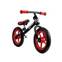 """Dječji bicikl LIONELO, Fin PLUS 12"""", bez pedala, crno-crveni"""