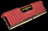 Memorija PC-19200, 16 GB, CORSAIR CMK16GX4M2A2400C16R Vengeance LPX red, DDR4 2400MHz, 2x8GB kit