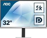 "Monitor 31.5"" LED AOC U3277FWQ, 4K, 4ms, 350cd/m2, 3000:1, HDMI, DP, zvučnici, mikrofon, crni"