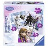 Slagalica RAVENSBURGER, Disney, Frozen, Ledeno kraljevstvo, 3u1, 25+36+49 komada