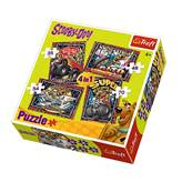 Slagalica TREFL 34257, Scooby Doo, 4u1, 35+48+54+70 komada