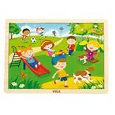 Drvena igračka VIGA 51269, Proljeće, slagalica za djecu, 24 komada