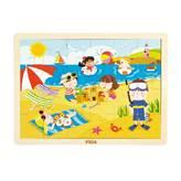 Drvena igračka VIGA 51270, Ljeto, slagalica za djecu, 24 komada
