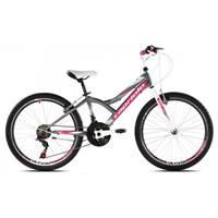 Dječji bicikl CAPRIOLO Diavolo 400, vel. 13˝, sivo/rozi