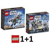 LEGO Star Wars 1+1, Resistance X-WING Fighter + First Order Snowspeeder