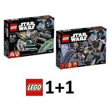 LEGO Star Wars 1+1, Yoda's Jedi Starfighter + Duel on Naboo