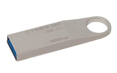 Memorija USB 3.0 FLASH DRIVE, 128 GB, KINGSTON DTSE9G2, DTSE9G2/128GB, srebrna