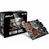 Matična ploča ASROCK H110M-DGS R3.0, Intel Core, DDR4, zvuk, G-LAN, S-ATA 3, PCI-E, USB 3.0, DVI-D, mATX, s. 1151
