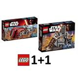 LEGO Star Wars 1+1, Rey's Speeder + Carbon-freezing chamber