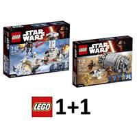 LEGO Star Wars 1+1, Hoth Attack + Droid Escape Pod