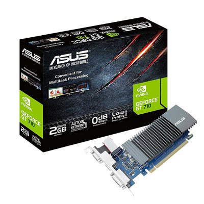 Grafička kartica PCI-E ASUS GeForce GT 710, 2GB, DDR5, DVI, HDMI, D-SUB