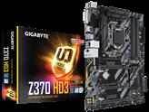 Matična ploča GIGABYTE GA-Z370-HD3, Intel Z370, DDR4, zvuk, G-LAN, SATA, M.2, PCI-E 3.0, CrossFire, HDMI, DVI-D, USB 3.1-C, ATX, s. 1151