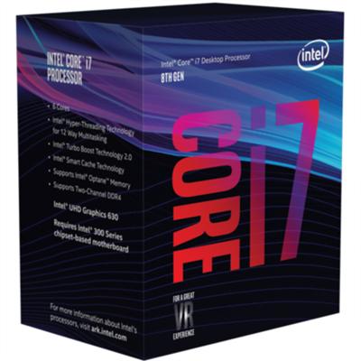 Procesor INTEL Core i7 8700, s. 1151, 3.2GHz, 12MB cache, Hexa Core