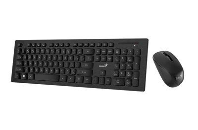 Tipkovnica + miš GENIUS SlimStar 8008, bežična, crna, USB