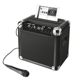 Zvučnici TRUST Fiesta Go, 20369, Bluetooth Wireless Party Speaker, mikrofon, crni