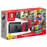 Igraća konzola NINTENDO Switch, Red Joy-Con + Super Mario Odyssey digital game