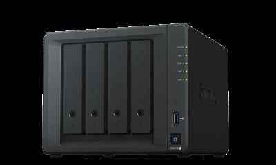 "Eksterno kućište SYNOLOGY DS918+ DiskStation 4-bay NAS server, 2.5""/3.5"" HDD/SSD support, Hot Swappable, Wake on LAN/WAN, 4GB, 2xG-LAN"