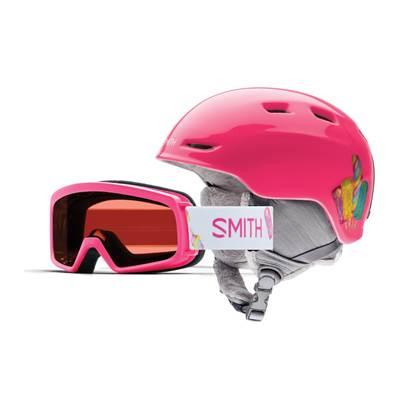 Dječja skijaška kaciga i naočale SMITH Zoom vel.48-53, roza