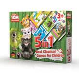 Društvena igra TALKING TOM 5u1, set klasičnih društvenih igara za djecu