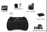 Tipkovnica RKM K6 mini, touchpad, bežična, crna, retail