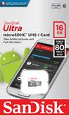 Memorijska kartica SANDISK, Micro SDHC Ultra Android, 16GB, SDSQUNS-016G-GN3MN, class 10 UHS-I