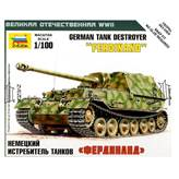 Maketa ZVEZDA, German tank destroyer FERDINAND, 1:100