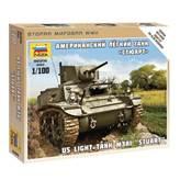 Maketa ZVEZDA, US Light Tank M3A1 STUART, 1:100
