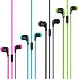 Slušalice VIVANCO handsfree, in-ear, s mikrofonom, flat kabel, 4 boje