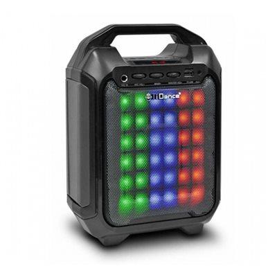 Karaoke iDANCE 10BK, disco LED, FM, baterija, mikrofon, bluetooth