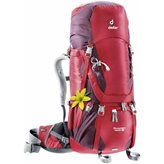 Planinarski ruksak DEUTER Aircontact 40 + 10SL, ženski, crveni