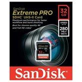Memorijska kartica SANDISK, SDHC Extreme Pro, 32GB, SDSDXPB-032G-G46, UHS-II, 280MB/s