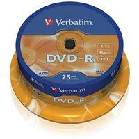 Medij DVD-R VERBATIM 16x, 4.7GB, Datalife Matt Silver, spindle 25 komada