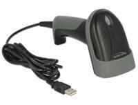 Bar code čitač DELOCK, 1D, laserski, USB, crni