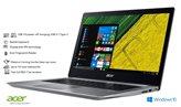 Prijenosno računalo ACER Swift 3 NX.GNUEX.040 / Core i3 7130U, 4GB, SSD 512GB, HD Graphics, 14'' LED FHD, kamera, LAN, HDMI, USB 3.0-C, Linux, srebrno
